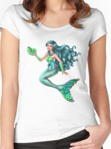 Mermista - Heroic Mistifying Mermaid Women's Fitted Scoop T-Shirt