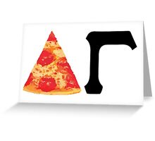 Pizza DG Greeting Card