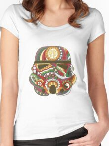 Vintage Psychedelic Storm Mask Women's Fitted Scoop T-Shirt