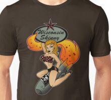 Wisconsin Skinny Bomber Girl Unisex T-Shirt