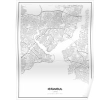 Istanbul Minimalist Map Poster