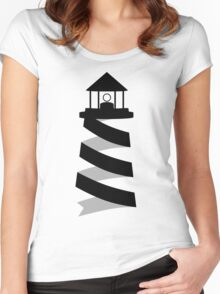 Lighthouse Spiral Women's Fitted Scoop T-Shirt