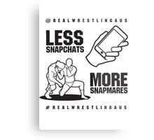 Less Snapchats, More Snapmares Metal Print
