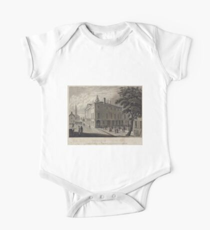 689 View of the old city hall Wall St In which Washington was innaugurated first president of the US Apl 30 1789 One Piece - Short Sleeve
