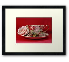 An English Cup of Tea Framed Print