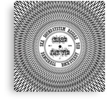 One Love In Ska SoundSystem Reggae Dub DanceHall Rocksteady  Canvas Print