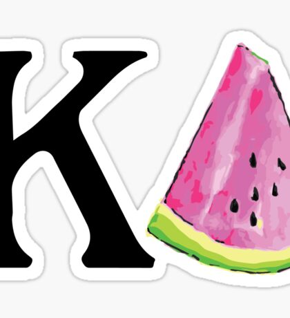 Watermeon Kappa Delta Sticker