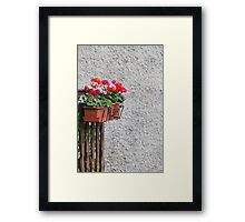 flowers in the vase Framed Print