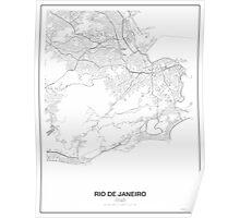 Rio de Janeiro Minimalist Map Poster