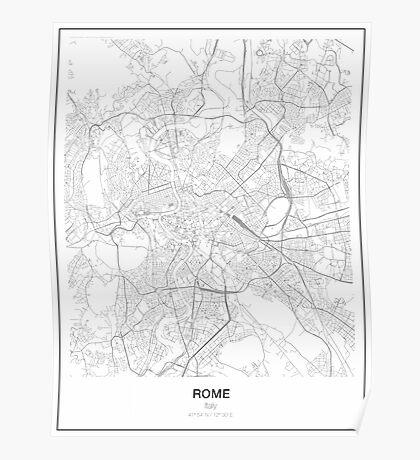 Rome Minimalist Map Poster