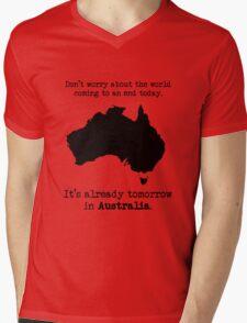 tomorrow in australia Mens V-Neck T-Shirt