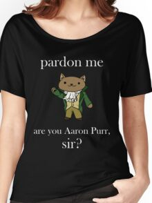 Alexander Hamilcat (White Text) Women's Relaxed Fit T-Shirt