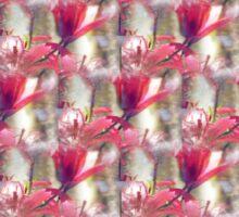red lilies light texture Sticker