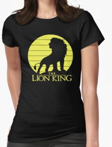 The Lion King Profile Womens Fitted T-Shirt