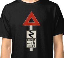 Old UK Road Signs - Bends Classic T-Shirt