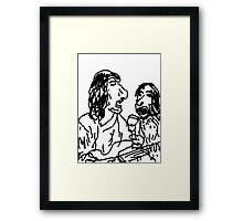Ronnie & Mick Framed Print