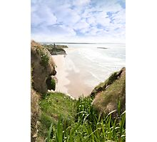 flora view from the top of the cliffs in Ballybunion Photographic Print