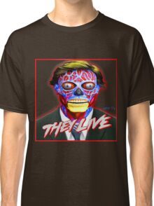 THEY LIVE - Red & Blue Classic T-Shirt