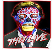 THEY LIVE - Red & Blue Poster
