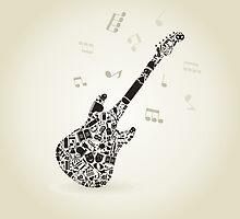 Art a guitar by Aleksander1