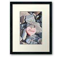 hot love on the rocks Framed Print