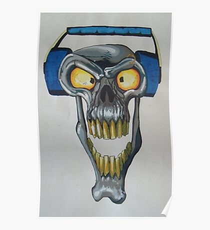 Bass Skull Poster
