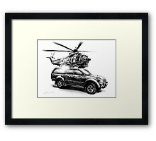 Coastguard Truck and Helicopter Framed Print