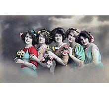 Five Edwardian ladies Photographic Print