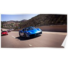Ferrari 488 GTB Spider Leading the Pack! Poster