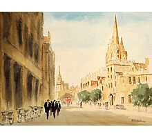 Oxford Students In The High Street Photographic Print