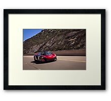 Volcano Red Mclaren 650s Spider on the move! Framed Print