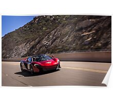 Volcano Red Mclaren 650s Spider on the move! Poster