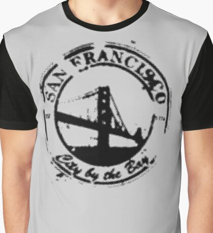 San Francisco - City By The Bay - Grunge Vintage Retro T-Shirt Graphic T-Shirt