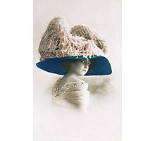 Edwardian lady in large picture hat Photographic Print