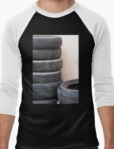 old tires Men's Baseball ¾ T-Shirt