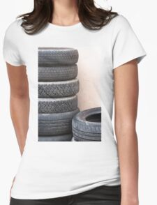 old tires Womens Fitted T-Shirt