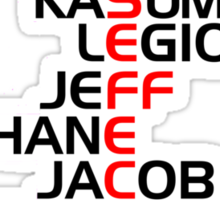 Mass Effect Two Characters Sticker