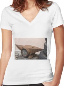 old anvil Women's Fitted V-Neck T-Shirt