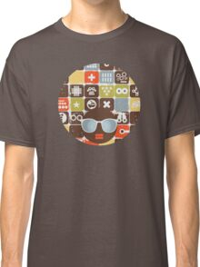 Robots on buttons Classic T-Shirt