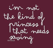 I'm not the kind of princess that needs saving by dubukat