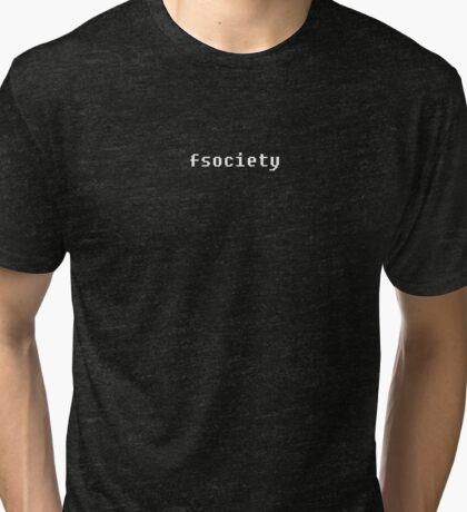 FSOCIETY Tri-blend T-Shirt