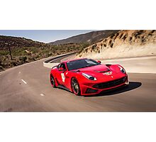Ferrari F12 N-Largo Rolling Shot!  Photographic Print