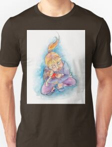 Girl with doll Unisex T-Shirt