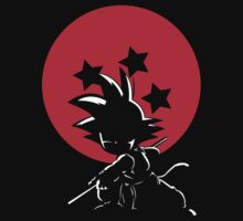 Red Ball Silhouette Goku Kids Tee