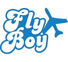 Fly Boy with jet plane Photographic Print