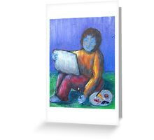 Painter by 'Donna Williams' Greeting Card