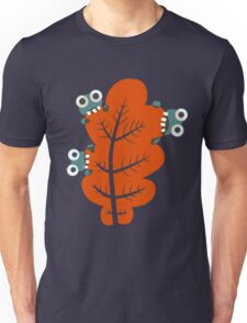 Cute Bugs Eating Autumn Leaves Unisex T-Shirt