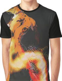 Fire element Robot Graphic T-Shirt