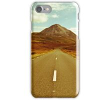 landscape of road to the Errigal mountains iPhone Case/Skin