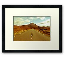 landscape of road to the Errigal mountains Framed Print